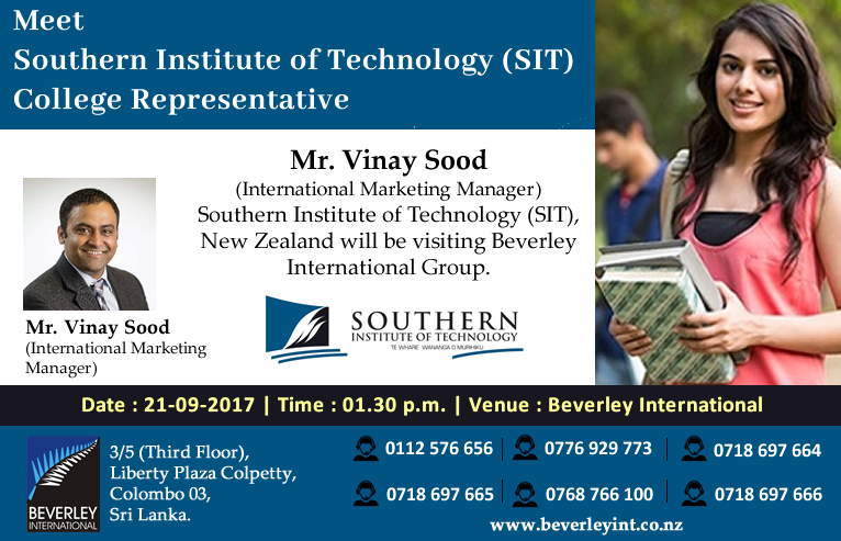 mr vinay sood international marketing manager southern institute of technology sit new zealand will be visiting beverley international group